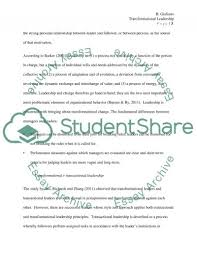 literature review transformational leadership essay related essays transformational leadership