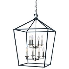 trans globe lighting lacey polished chrome and black 19 inch eight light pendant