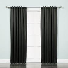 white blackout drapes. Delighful Blackout Best Home Fashion Thermal Insulated Blackout Curtains  Back Tab Rod  Pocket Black For White Drapes L