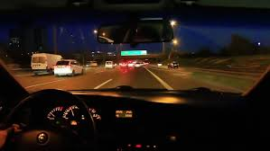 car driving on highway at night. Contemporary Driving In Car Driving On Highway At Night