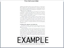 Fire Chief Resume Fire Chief Cover Letter Where Can I Find A ...