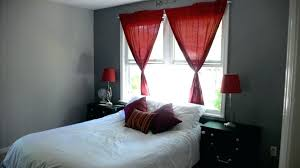 Red Curtain Bedroom Grey Bedroom Walls Red Curtain White Bed Red Bedroom  Curtain Ideas