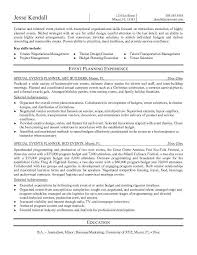 Event Planner Resume Objective Nfcnbarroom Com