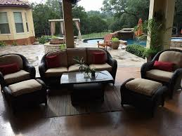 outdoor patio set recovered by budget