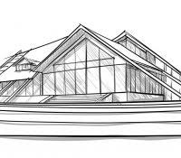 modern architectural sketches. Simple Architectural House Design Drawing Software Free Download Interior Modern Architectural  Designs Sketch Of Point Perspective Contemporary Sketching With Modern Architectural Sketches