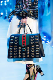 gucci bags 2017 black. gucci black embellished sylvie top handle bag - fall 2017 bags