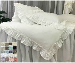 bedroom linen duvet cover vintage ruffles style colors patterns grey and cream nursery bedding ruffle