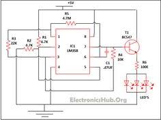 traffic lights for model cars or model railways circuit schematic led lamp dimmer project circuit diagram and working