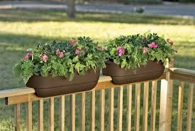 Planters, Hanging Flower Boxes Window Boxes Home Depot Portable Deck  Railing Flower Boxes Wooden Fence