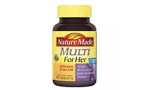 best multivitamins for women nature made multi for her with iron and calcium