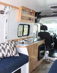 traditional camper van kitchen
