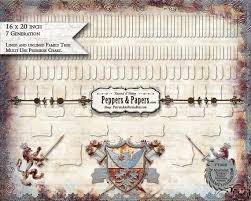 20 Generation Pedigree Chart 7 Generation Pedigree Chart 16x20 Ancestry Family Tree Scrapbooking Records Family Organizer Poster Ft065 Vintage Crest Series