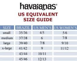 Havaianas Size Chart Size Chart Chart Diagram