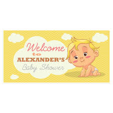 Baby Shower Banner Welcome To Baby Shower Banner Personalized Party Backdrop
