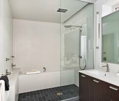 glass panel wall divider the bathtub shower area