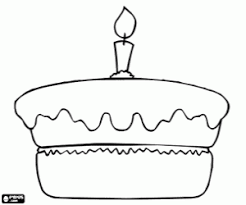 Small Picture Birthday Cake No Candles Coloring Page