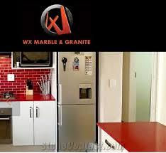 caesarstone red shimmer quartz kitchen countertops