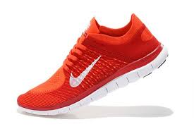 nike running shoes for men orange. nike free 4.0 flyknit men red orange white running shoes for c