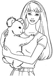 coloring pages barbie coloring pages barbie coloring books barbie with koala coloring pages barbie