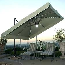 offset patio umbrella solar 11 ft solar offset beige patio umbrella pictures ideas
