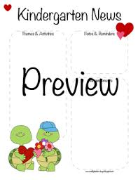 february newsletter template kindergarten valentines day february newsletter template tpt