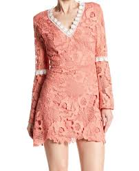 Alexia Admor New Pink Womens Size Xs Ruffle Lace V Neck Sheath Dress 265 055 Ebay