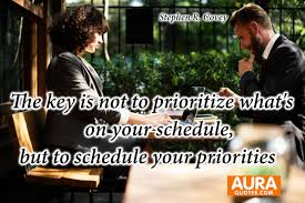 Conversation Quotes Cool Priority Quotes The Key Is Not To Prioritize What's On Your