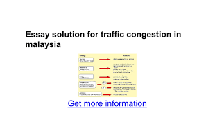 essay solution for traffic congestion in google docs