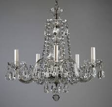 image of small antique crystal chandelier