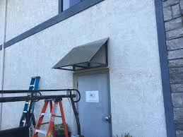 picture of corrugated metal awning