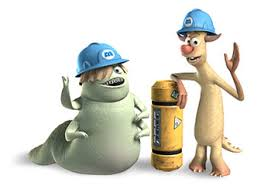 monster inc characters. Simple Inc Smitty And Needleman In Monster Inc Characters
