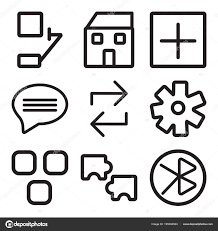 Set Of 9 Simple Editable Icons Such As Tooth Puzzle Layout Stock