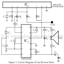 car circuit diagram car image wiring diagram car reverse horn electronics project on car circuit diagram