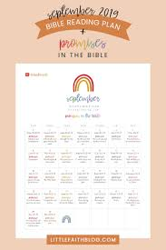 September 2019 Bible Reading Plan Promises In The Bible