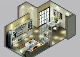 UK modern house interior design 3D sky view
