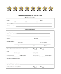 Printable Sample Letter Of Employment Verification Form Job From ...