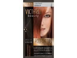Victoria Beauty Keratin Therapy Tónovací šampon Na Vlasy V 31 Chestnut 4 8 Umytí Salondomacz