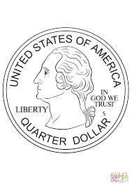 Small Picture Quarter Coin coloring page Free Printable Coloring Pages