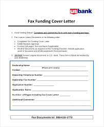 fax funding cover letter example cover letter for faxing documents
