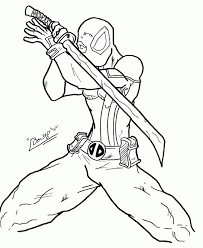 Free Printable Deadpool Coloring Pages For Kids Coloring Home