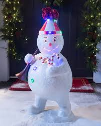 ... Outdoor Fiber Optic Snowman with Horn by Balsam Hill ...