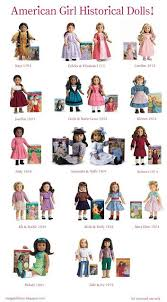 My American Girl Doll Story Ag Doll Charts Historical