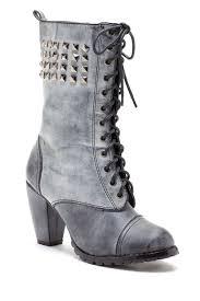 Bucco Studded High Heel Combat Boot Hautelook