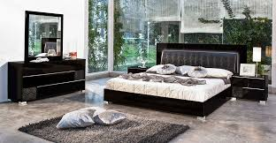 Best Modern Bedroom Furniture Interesting Venice Furniture Modrest Grace Italian Modern Black Bedroom Set