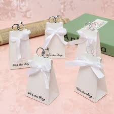 20PCS 100PCS White Diamond Ring Style Gift Box Candy Favors Paper Bag  Wedding Party Accessories