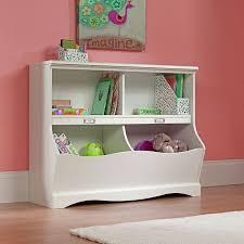 Kids Cubby Storage Box Bookcase Bin Toy Organizer Table Plastic Shelf Wall  White