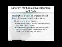 methods of development narrative descriptive essays methods of development narrative descriptive essays