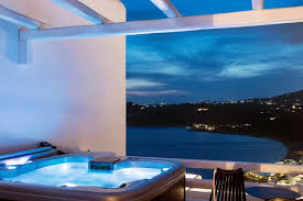 Outdoor Jacuzzi Pure Sea View With Outdoor Jacuzzi Myconian Avaton