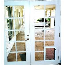sliding door with dog door built in screen door with dog door full size of dog