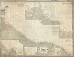 Imray Or Admiralty Charts Details About 1875 Imray Blueback Nautical Chart Or Map Of Guiana Guyana